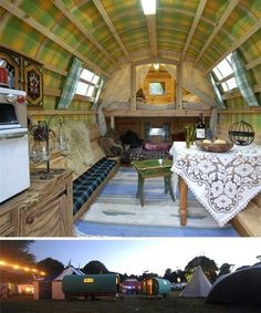 This is more of a tube turned into a camper...
