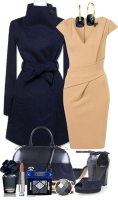 """Navy Style"" by gangdise ❤ liked on Polyvore"
