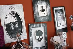 spooky portraits with paper frames...