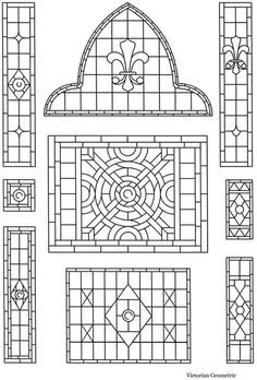 Stained Glass Patterns for FREE ★ glass pattern 070