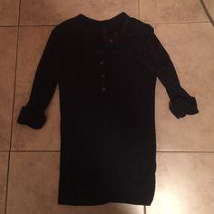 V Tee Shop Navy 3/4 Sleeve Shirt Navy Blue Quarter Sleeve V Tee Shop Tops Button Down Shirts