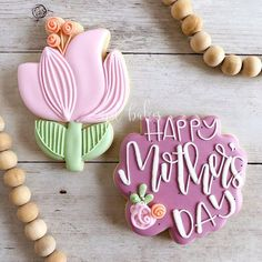 Mother's Day Cookies, Fancy Cookies, Cut Out Cookies, How To Make Cookies, Holiday Cookies, Cookies Et Biscuits, Flower Sugar Cookies, Cookie Bouquet, Set Cookie