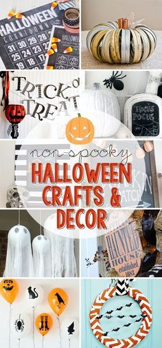Non Spooky Halloween Crafts and Decor