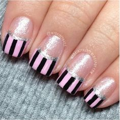 Lovely twist on french tips