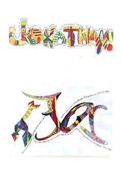 Plastische opvoeding PO: eigen naam - naar Niki de saint Phalle