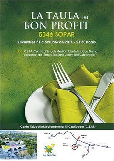 Sopar de La Taula del Bon Profit, Grup gastronòmic de la Marina Baixa.
