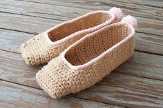 Corcheted pointe shoes via Sarah Sweethearts; she has the pattern available to download if you can crochet, I.... however... cannot... :(