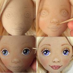 Доброе утро! Пока изобретаются новые выкройки, покажу немножко старенького☺ Процесс рисования личика: набросок карандашом, тонировка пастелью, акриловые краски, лак. #мастер_класс_ангел #томашевская_игрушки #куклыиринытомашевской #процесс