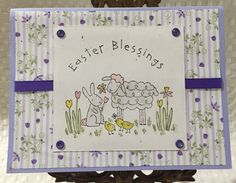 Stampin Up Easter Blessings Card by CraftyCardandWreaths on Etsy
