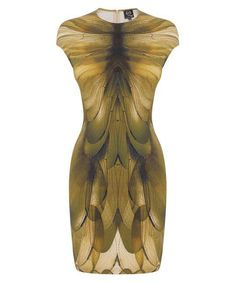 Dragonfly wing print dress.