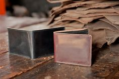"Ashland Leather Co. - ""Johnny the Fox"" shell cordovan leather bifold wallet"