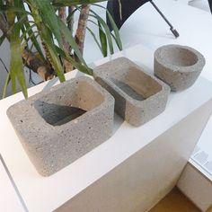 Philippe Malouin's Concrete Tupperware – a range of concrete Tuppaware-moulded…