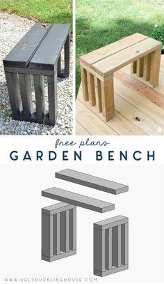 Diy Outdoor Furniture, Outdoor Garden Furniture, Diy Furniture, Outdoor Decor, Rustic Furniture, Outdoor Benches, Antique Furniture, Garden Benches, Simple Furniture