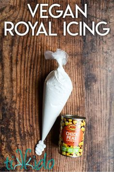 Yes, you can make an eggless royal icing! This vegan royal icing recipe is perfect for constructing gingerbread houses and decorating vegan Christmas cookies.