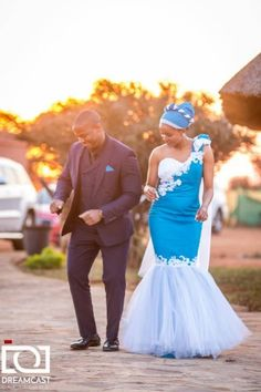Shweshwe Dresses for a Wedding 2019 : In the event that you capture the shweshwe styles segment former you would acknowledge as of now gotten a deliberation of the blazon of shweshwe dresses I pick. You see the appearance underneath, that is the blaz Sepedi Traditional Dresses, African Traditional Wedding Dress, Traditional Wedding Attire, Blue Wedding Dresses, Formal Dresses For Weddings, Wedding Suits, Designer Wedding Dresses, Wedding Gowns, South African Dresses