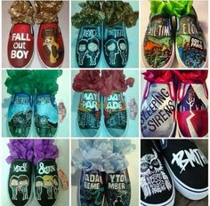 Fall out boy, all-time low, sleeping with sirens, pierce the veil, mayday Parade, a day to remember, bring me the horizon, of mice and men