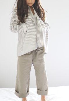 Monday Outfit: Stripes and Khaki | Sanae Ishida