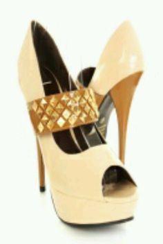 Nude color high heels