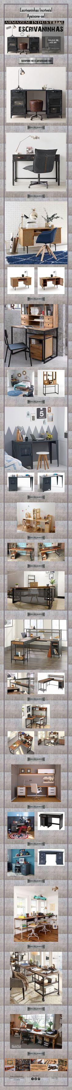 Escrivaninhas Incríveis! Bookcase, Home Decor, Bed Sets, Desk, Houses, Decoration Home, Room Decor, Interior Design, Home Interiors
