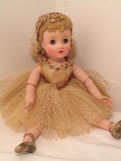 """VINTAGE 1905s MADAME ALEXANDER ELISE BALLERINA GOLD TUTU 15"""" DOLL #Dolls"""