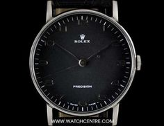 Rolex Stainless Steel Black Arabic Dial Precision Vintage Gents 3411
