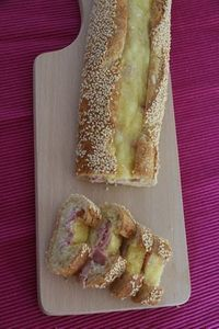 Baguette for aperitif Egg - Ham and Cheese Weed Recipes, Cooking Recipes, Tapas, Baguette Sandwich, Fingerfood Party, Good Food, Yummy Food, Ham And Cheese, Snacks