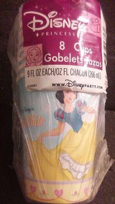 DISNEY PARTY FAVORS 8 9OZ. CUPS PRINCESS SNOW WHITE #Disney