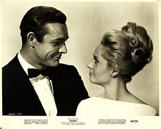 Beautiful people - Sean Connery & Tippi Hedren in Marnie (1964).