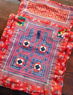 Vintage Hmong Fabric Handmade hill tribe Baby carrier ethnic craft Supplies on Etsy, $15.50