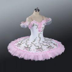 White and pink ballet professional tutu dress