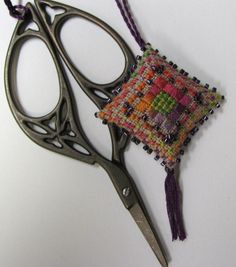 Mexican Dream Scissor Fob Ornament Pin Cushion by meersbaby, $11.50