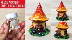 Acrylic Paint Bottles, Painted Glass Bottles, Glass Bottle Crafts, Mini Glass Bottles, Bottle Painting, Bottle Art, Plastic Bottles, Mirror Crafts, Wall Hanging Crafts