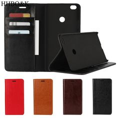 """Business Crazy Horse Genuine Leather Case For Xiaomi Max Mi Max Magnetic Filp Wallet Stand Cover Case For MiMax (6.44""""inch)"""