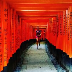 Morning Run . #Photo @alrunninghappy . What a #morningrun  First #run after 4 weeks and it was so #amazing - Fushimi-Inari-Shrine this morning! It was just wonderful . Welcome to #RunnerLand  Lets follow us / Tag #RunnerLand on your photos / Turn on our post notifications for featured  .