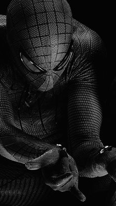 Spiderman Hero Dark Bw Art Illustration #iPhone #5s #wallpaper