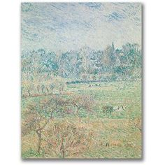 Trademark Fine Art Autumn Morning Canvas Wall Art by Camille Pissaro, Size: 35 x 47, Multicolor