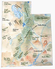 utah landforms- loving it, loving it  Could do this with Nebraska