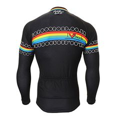 Men's Spring Summer Outdoor Cycling MTB Compression Tights Trend Rainbow Jersey & Pants Bike Suit KD33 Black