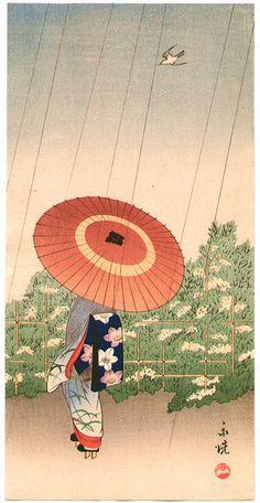 Artist: Tomioka Eisen Title:Maiko with Umbrella Japanese Art Modern, Traditional Japanese Art, Japanese Prints, Japanese Design, Japanese Culture, Japanese Painting, Chinese Painting, Chinese Art, Art Occidental