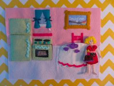 Crazy awesome Dollhouse quiet book page