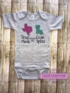 3a74aec31 Baby bodysuit, shower gift, baby boy, baby girl, Texas made seasoned with