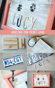 How To Make A Darling Paw Print Home Decor Sign | Spellbinders