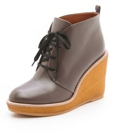 Marc by marc jacobs Wedge Lace Up Booties on shopstyle.com