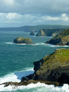 Coastline at Tintagel on the north coast of Cornwall