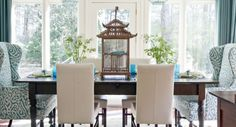 House of Turquoise dining room - like the mixed chairs Dining Design, Dining Room Chairs, House Interior, Dining Room Design, Interior, Room Design, Home Decor, Eclectic Dining Room, Dining Furniture