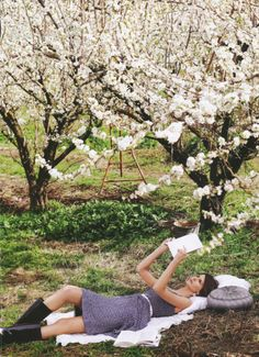 under the apple trees