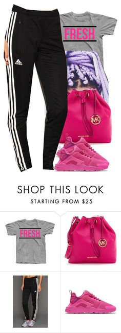 """""""Untitled #413"""" by christianna-futrell ❤ liked on Polyvore featuring MICHAEL Michael Kors, adidas and NIKE"""
