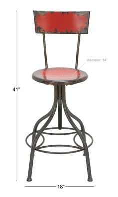 Lomita Adjustable Height Swivel Bar Stool