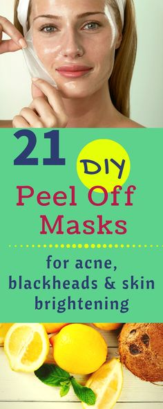 21 DIY Peel Off Face Masks For Blackheads, Acne and Skin Brightening  #facemask #DIY