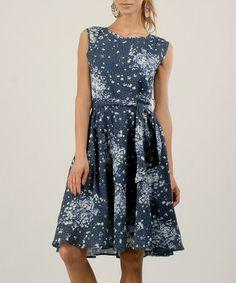 Anmol: Navy Floral Midi Dress by Anmol on #zulilyUK today!